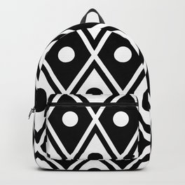 Harlequin Pattern Black & White Backpack