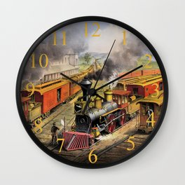 American Railroad Scene (Currier & Ives) Wall Clock