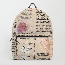 Vintage background Backpack