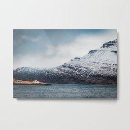 Alone House Mountain Metal Print