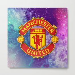 Manchaster United Colored Metal Print