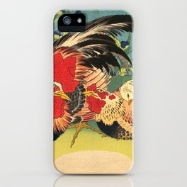 Rooster, Hen and Chicken iPhone Case