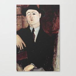 Paul Guillaume by Amedeo Modigliani Canvas Print