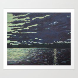 Moonlight – McIntosh Lake, Algonquin Park Art Print