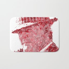 Legendary Alabama coach Bear Bryant Bath Mat