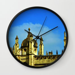 Oxford rooftops Wall Clock