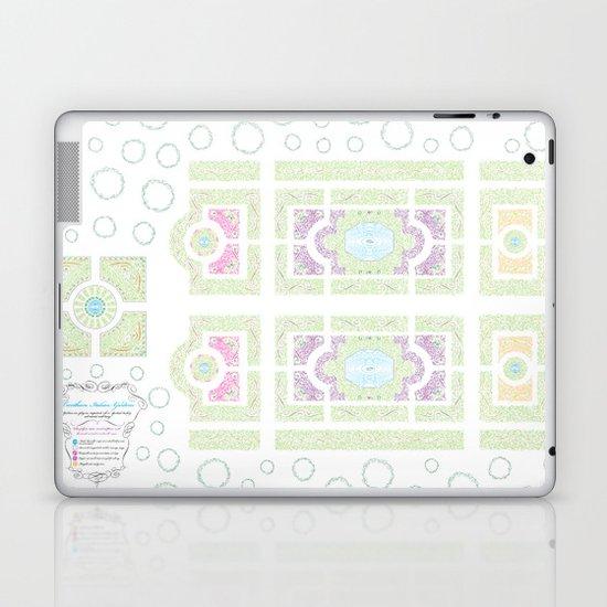 Typography Italian Garden Plan Laptop & iPad Skin