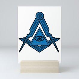 Illuminati Symbol Triangle Conspiracy Masonic Gift Mini Art Print