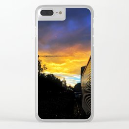DC Sunset Clear iPhone Case