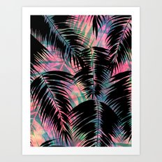 Maui Palm {Black A} Art Print