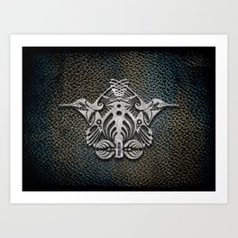 Bassnectar Family Crest (Metal) Art Print