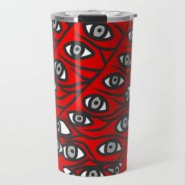 Freddie Eyeballs Red Travel Mug