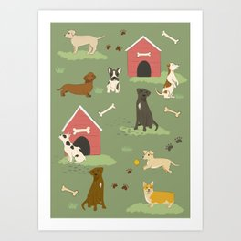 Dog Days Art Print