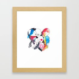Abstract faces Framed Art Print