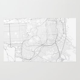 San Francisco, United States Minimalist Maps Rug
