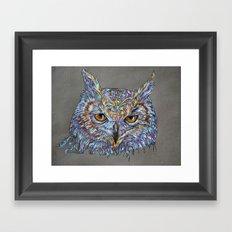 Owl Awakening Framed Art Print