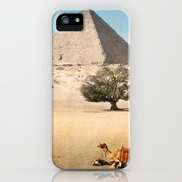 Vintage Pyramid : Grand Pyramid Gizeh Egypt 1895 iPhone Case
