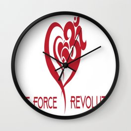 Love Force Revolution Wall Clock