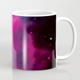 Red and violet milky way galaxy and starry sky Coffee Mug