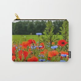 Poppies And Cornflowers Carry-All Pouch