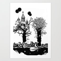 The Whale and The Balloons Art Print