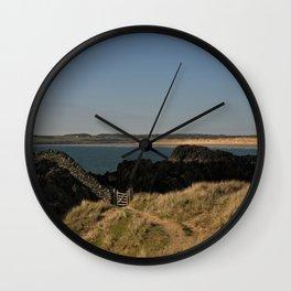 Towards Malltraeth Beach Wall Clock