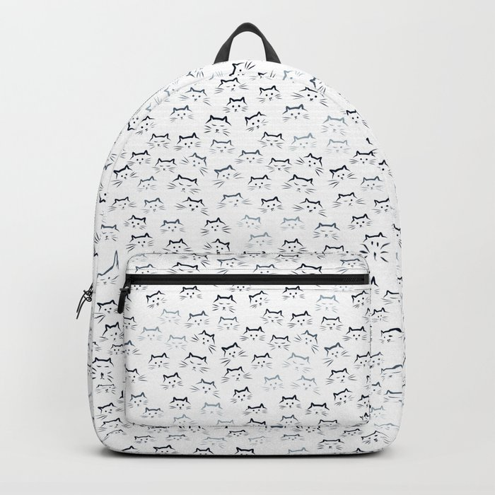 Black and White Cat-mouflage Backpack