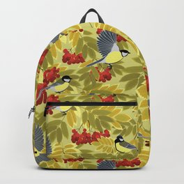 Tits on a mountain ash Backpack