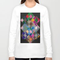 building Long Sleeve T-shirts featuring Building Blocks by Fine2art