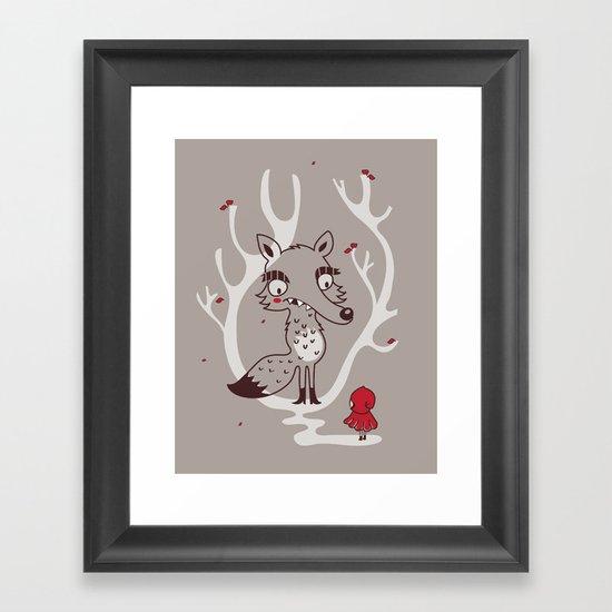 Hello big wolf Framed Art Print
