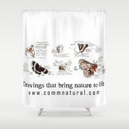 Lepidoptera inspiration: a watercolor collection of Saskatchewan moths & butterflies Shower Curtain