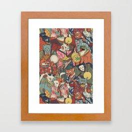 Night parade Framed Art Print
