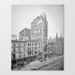 Old NYC New Amsterdam Theater Photograph (1905)  Canvas Print