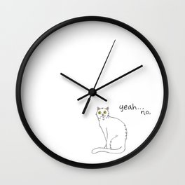 No Exercise Cat by Caleb Croy Wall Clock