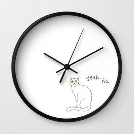 No Exercise Cat by Caleb Croy Wall Clock