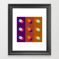Overlapping circles Framed Art Print