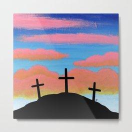 Jesus Christ and Him Crucified Metal Print