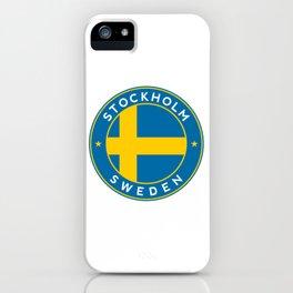 Sweden, Stockholm, circle iPhone Case