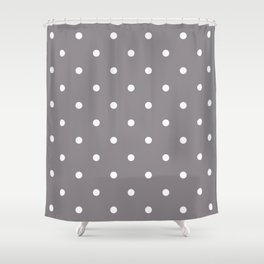 Dots Taupe Shower Curtain