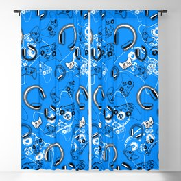 Gamers-Blue Blackout Curtain