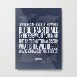 Romans 12:2 Metal Print
