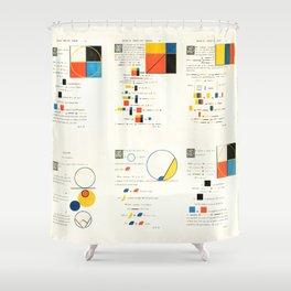 Euclidean joy Shower Curtain