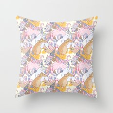 Fancy Rat Pattern Throw Pillow
