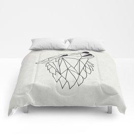 Geometric Howling Wild Wolf Comforters