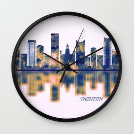 Incheon Skyline Wall Clock