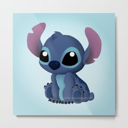 Chibi Stitch Metal Print