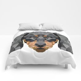 Dachshund | Low-poly Art Comforters