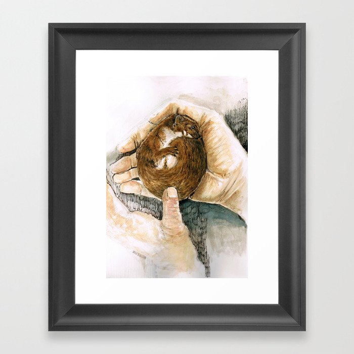 She put her life in your hands (c) 2017 Framed Art Print