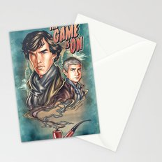 The Game Is On Stationery Cards