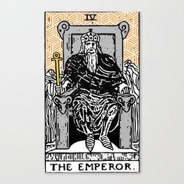Geometric Tarot Print - The Emperor Canvas Print
